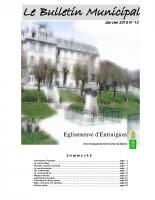 Bulletin municipal n° 13 – Janvier 2015